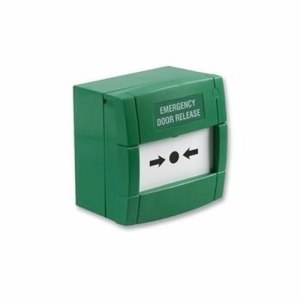 KAC Resettable Single Pole Green Call Point Emergency Door Release