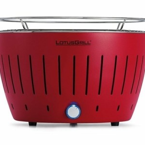 LotusGrill Standard Charcoal Barbecue With Fan Grill - Blazing Red