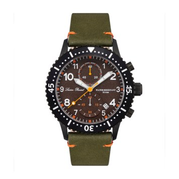 Lucien Piccard Gent's Mason IP Watch with Genuine Leather Strap