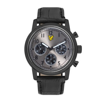Lyle & Scott Gent's Command IP Watch with Genuine Leather Strap