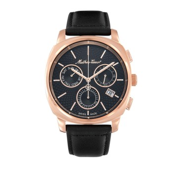 Mathey-Tissot Gent's Smart Chronograph Watch with Genuine Leather Strap