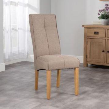 Milan Dining Chair Brown