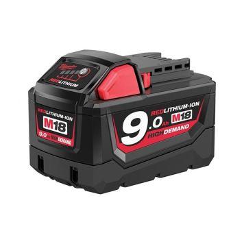 Milwaukee Power Tools M18 B9 REDLITHIUM-ION™ Slide Battery Pack 18V 9.0Ah Li-ion