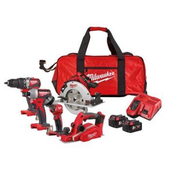 Milwaukee Power Tools M18 BLPP4D Brushless Kit 18V 2 x 5.0Ah Li-ion