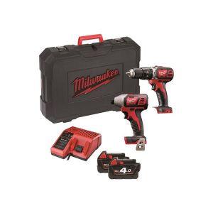 Milwaukee Power Tools M18 BPP2C-402 Twin Pack 18V 2 x 4.0Ah Li Ion