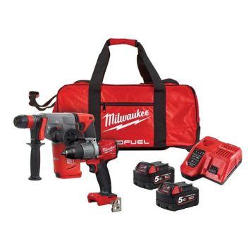 Milwaukee Power Tools M18 FPP2M2 FUEL™ Twin Pack 18V 2 x 5.0Ah Li-ion