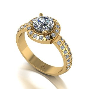 Moissanite 9ct Gold 1.4ct eq Occasion Ring