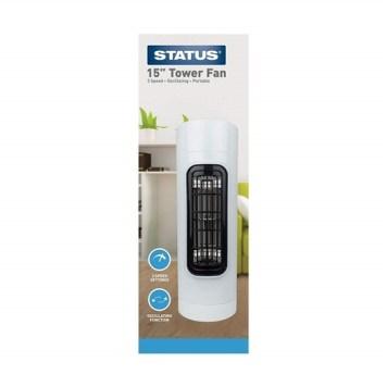 "Status 15"" White Tower Fan"