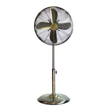 "Status 16"" Antique Brass Stand Fan"