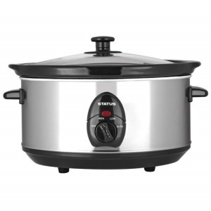 Status 3.5 Litre Oval Slow Cooker - Silver