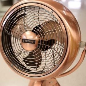 """Status 8"""" Copper Tripod Fan"""