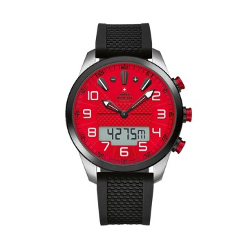 Swiss Military by Chrono Gent's Chronograph Watch with Silicone Strap