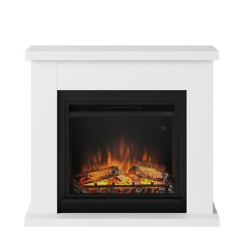 Tagu Frode Electric Fireplace - Pure White Complete Suite UK Plug