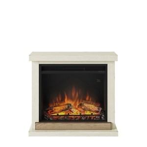 Tagu Hagen Electric Fireplace - Antique Ivory Complete Suite EU Plug
