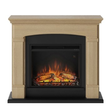 Tagu Helmi Electric Fireplace - Natural Oak Complete Suite UK Plug