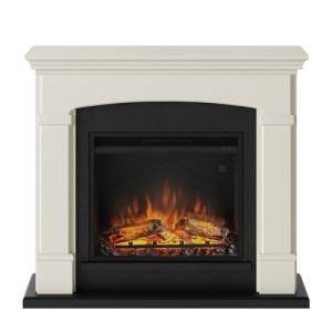 Tagu Helmi Electric Fireplace - Soft Cream Complete Suite EU Plug