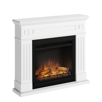 Tagu Larsen Electric Fireplace - Pure White Complete Suite EU Plug