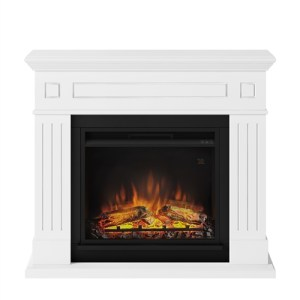Tagu Larsen Electric Fireplace - Pure White Complete Suite UK Plug