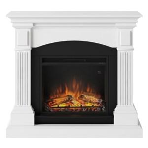 Tagu Magna Electric Fireplace - Pure White Complete Suite EU Plug