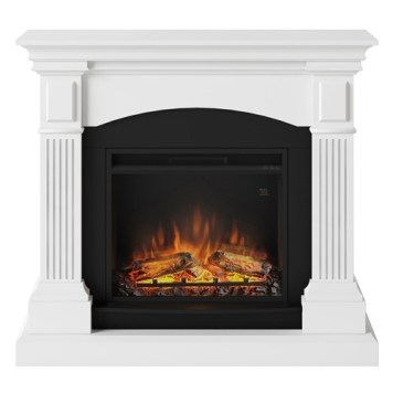 Tagu Magna Electric Fireplace - Pure White Complete Suite EU Plug