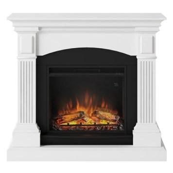 Tagu Magna Electric Fireplace - Pure White Complete Suite UK Plug