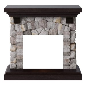 Tagu Reino Electric Fireplace - Rock Grey Mantel Only No Plug