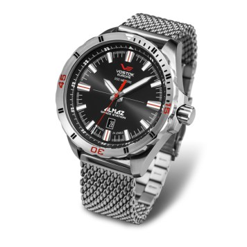 Vostok Europe Gents Almaz Automatic Watch with Stainless Steel Milanese Bracelet Strap