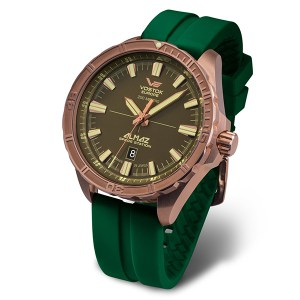 Vostok Europe Gent's Bronze Almaz Automatic Watch with Silicone Strap