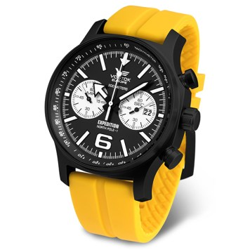 Vostok Europe Gent's Expedition N1 Chronograph Watch with Silicone Strap