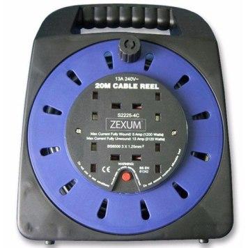 Zexum 4G Handbag Socket Extension Reel - 20m