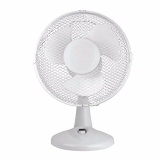 Zexum White 9 Inch Oscillating Portable Desk Fan