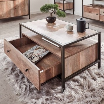 Brunel 1 Drawer Coffee Table Bronzed