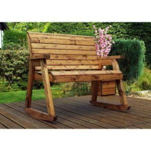 Charles Taylor Garden Chair Rocker With Burgundy Cushion