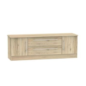 Colby TV Unit 2 Door 2 Drawer Bordeux Oak Style