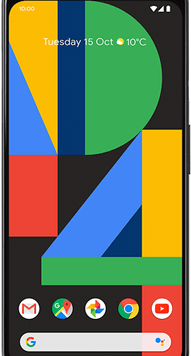 Google Pixel 4 XL (64GB Just Black) at £19.00 on Red (24 Month(s) contract) with UNLIMITED mins; UNLIMITED texts; 24000MB of 5G data. £55.00 a month.