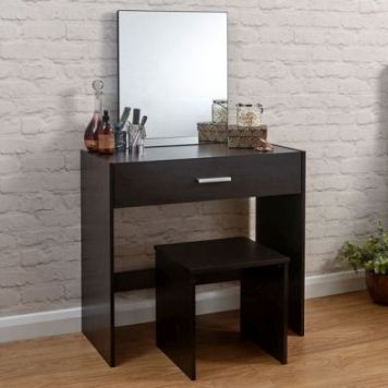 Julia Dressing Table Brown 1 Drawer With Stool