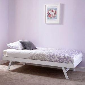 Madrid Single Trundle Bed White