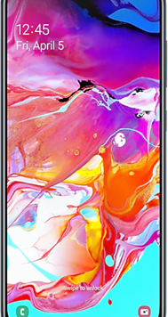 Samsung Galaxy A70 Dual Sim (128GB Black Used Grade A) at £9.00 on Unlimited (24 Month(s) contract) with UNLIMITED mins; UNLIMITED texts; UNLIMITEDMB of 5G data. £42.00 a month.