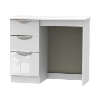 Weybourne Desk White 3 Drawer