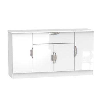 Weybourne Sideboard White 4 Door 1 Drawer