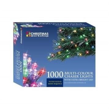 Benross Multi Coloured Ultra Bright LED String Chaser Lights - 1000 LED