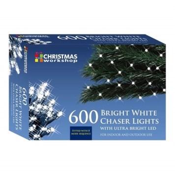 Benross White Ultra Bright LED String Chaser Lights - 600 LED