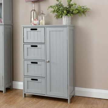 Colonial Cabinet Grey 4 Drawer
