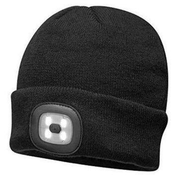 Kingavon 4 LED SMD USB Rechargeable Headlight Hat - Black