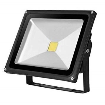 Kingavon Glass-Surface Black LED Floodlight - 20W