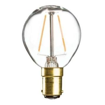 KnightsBridge 230V 4W LED 45mm Clear Golf Ball Bulb - SBC