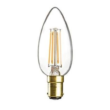 KnightsBridge 4W SBC LED Candle Bulb - Clear
