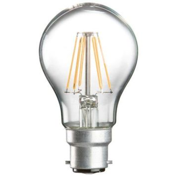 KnightsBridge 6W LED Clear GLS - Warm White - Edison Screw