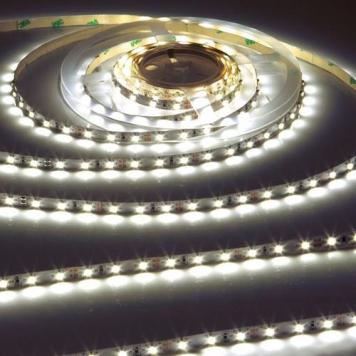 KnightsBridge Cool White 12V LED IP20 Flexible Indoor Internal Rope Lighting Strip - 5 Meter