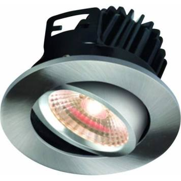 KnightsBridge FireKnight Tilt 7W IP20 LED Downlight With Brushed Chrome Bezel - Warm White